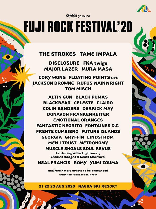 [POSTPONED] Fuji Rock Festival '20 - Flyer front
