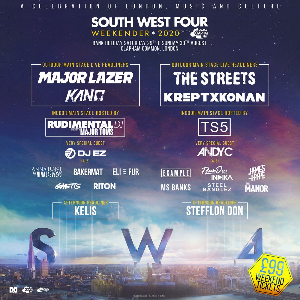 South West Four 2020 - Flyer front