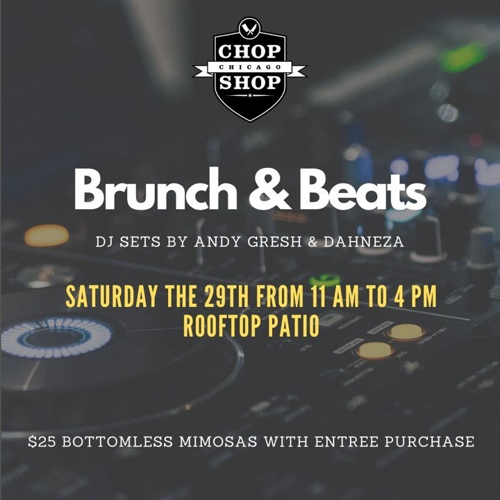 Brunch & Beats on the Rooftop - Flyer front