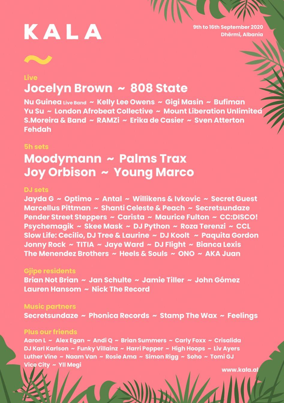 Kala Festival 2020 - Flyer back