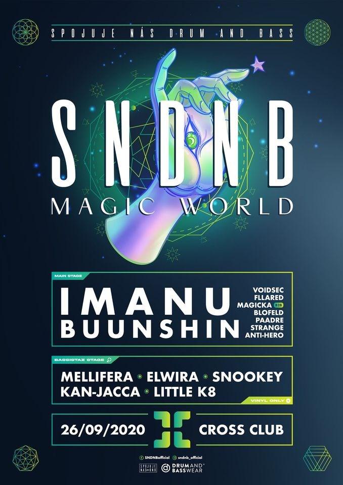 Sndnb Magic World W/ Imanu (Signal) & Buunshin - Flyer front