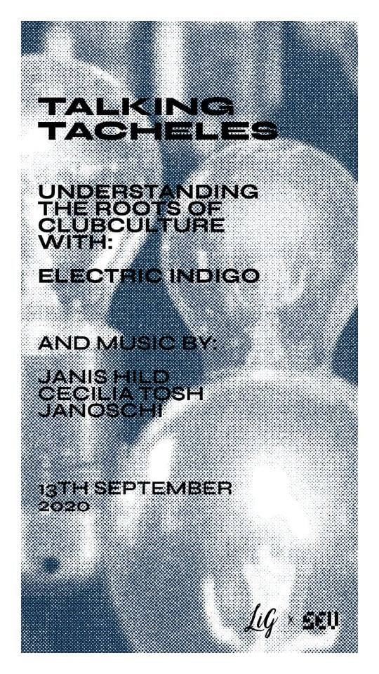 Talking Tacheles with Electric Indigo - Flyer front