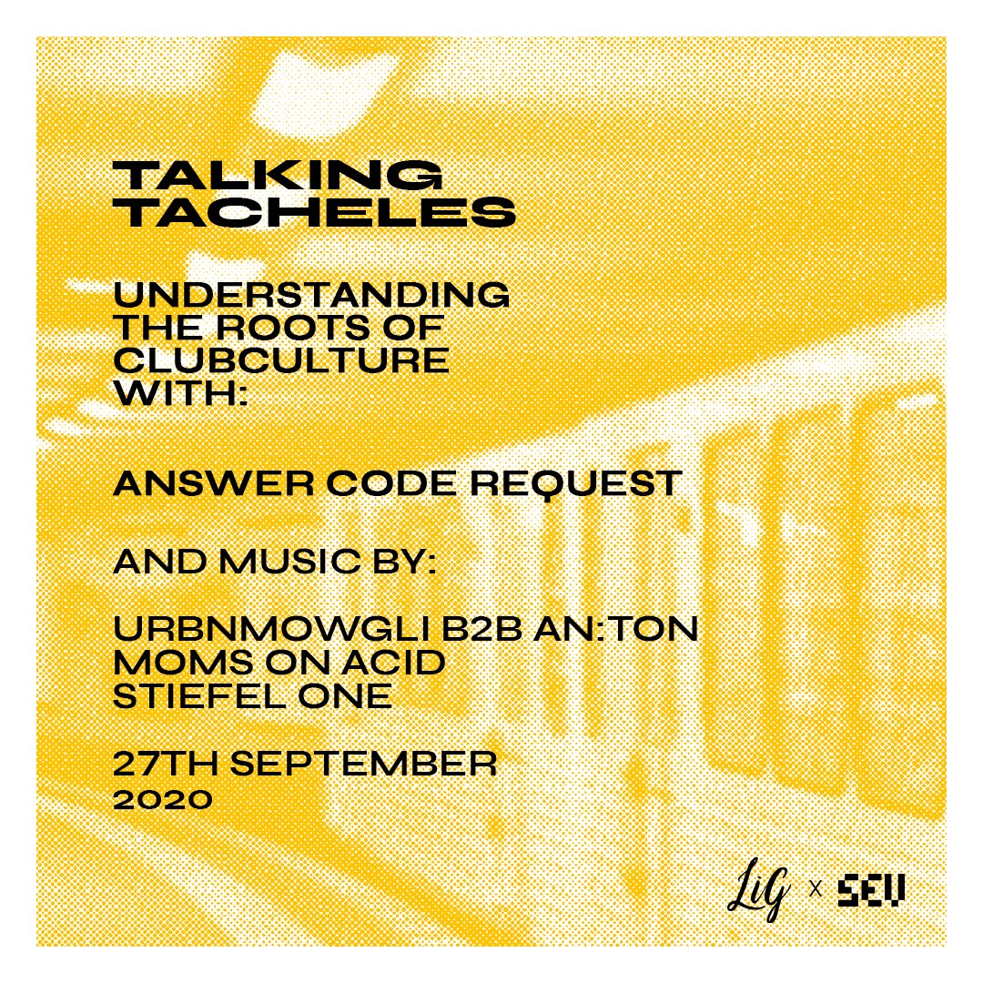 Talking Tacheles with Answer Code Request - Flyer back