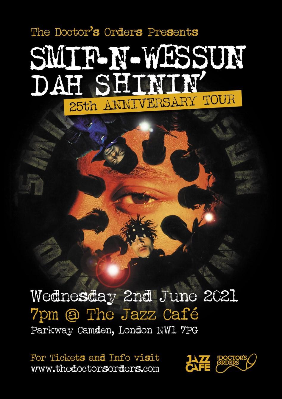 Smif-N-Wessun: Dah Shinin 25 Anniversary - Flyer front