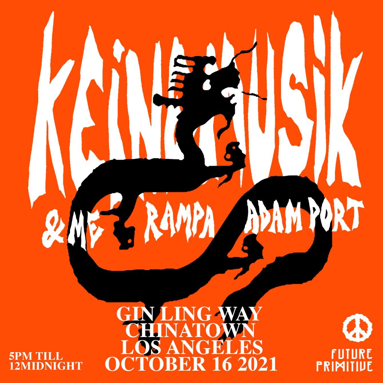 Keinemusik Block Party &ME, Rampa, Adam Port 10/16 - Flyer front
