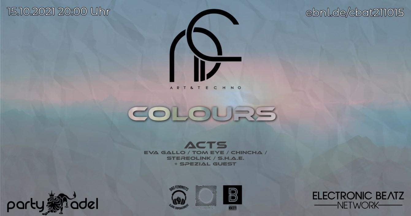 Colours Showcase - Flyer front
