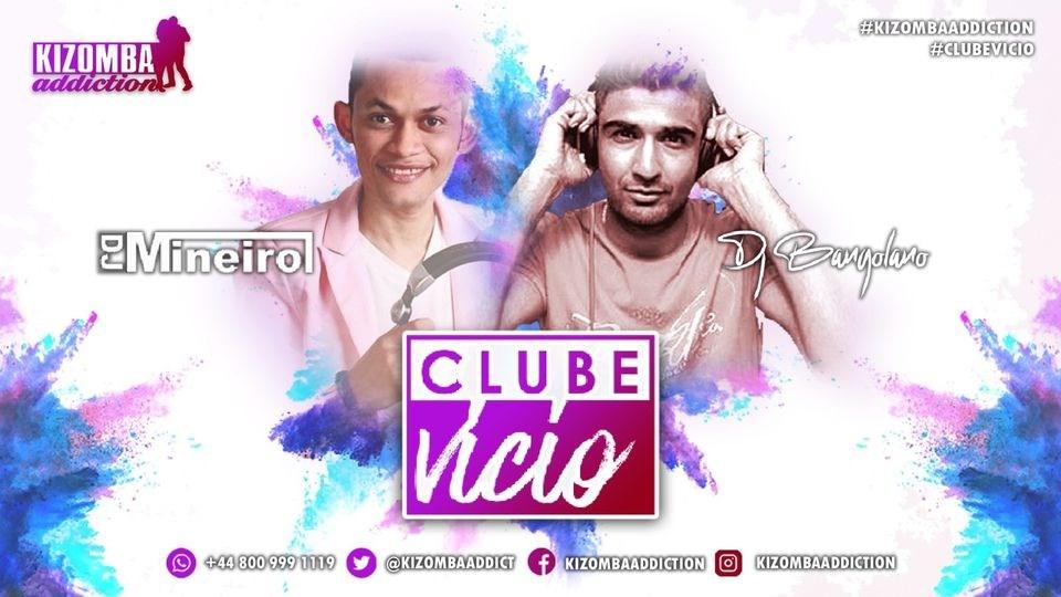 Clube Vicio - Kizomba Party & Dance Classes on Saturday Nights - Flyer front