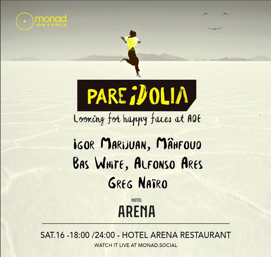 Pareidolia Live Streaming From ADE - Flyer front