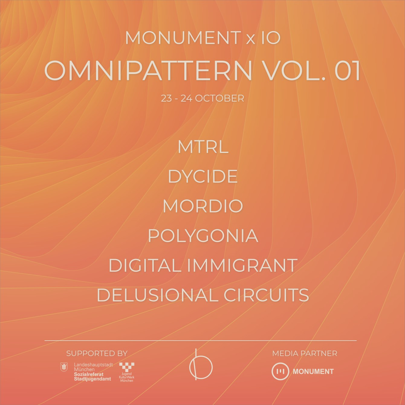 Monument x IO - Omnipattern VOL. 01 - Flyer front
