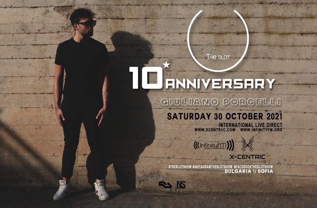 Giuliano Porcelli presenta 10° Anniversary di 'Theslot' - Flyer back