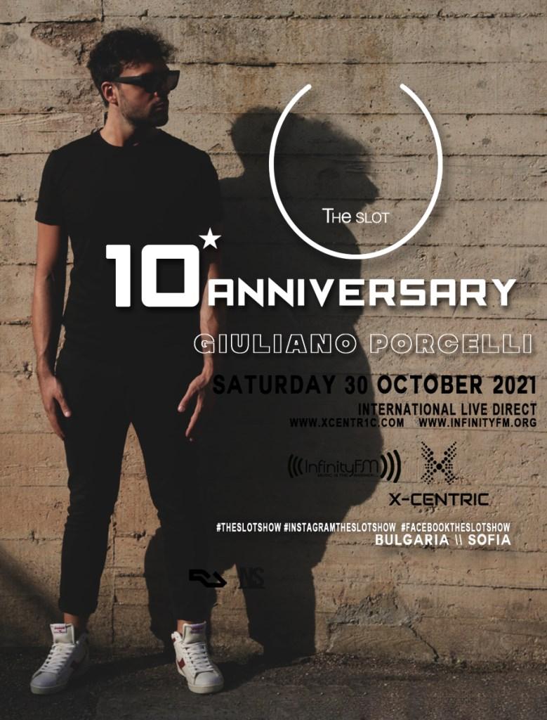 Giuliano Porcelli presenta 10° Anniversary di 'Theslot' - Flyer front