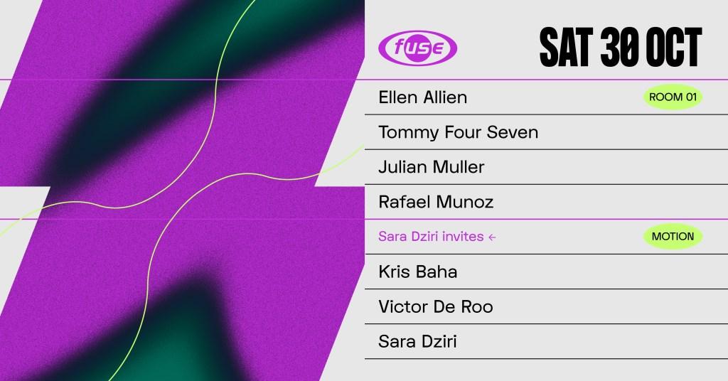 Fuse presents: Ellen Allien, Tommy Four Seven & Kris Baha - Flyer front