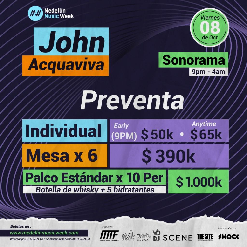 John Acquaviva - Flyer back
