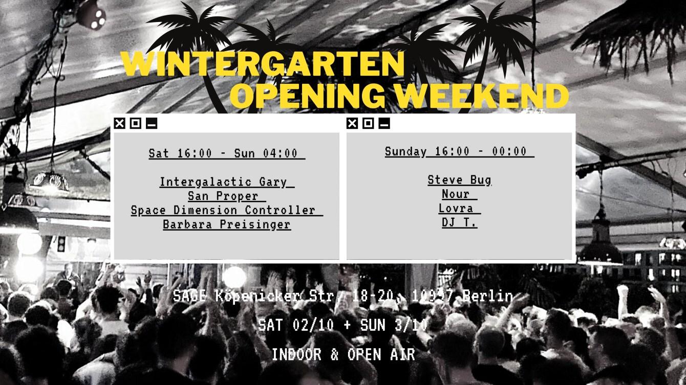 Wintergarten Opening Open Air & Indoor - Space Dimension Controller, San Proper and More - Flyer front