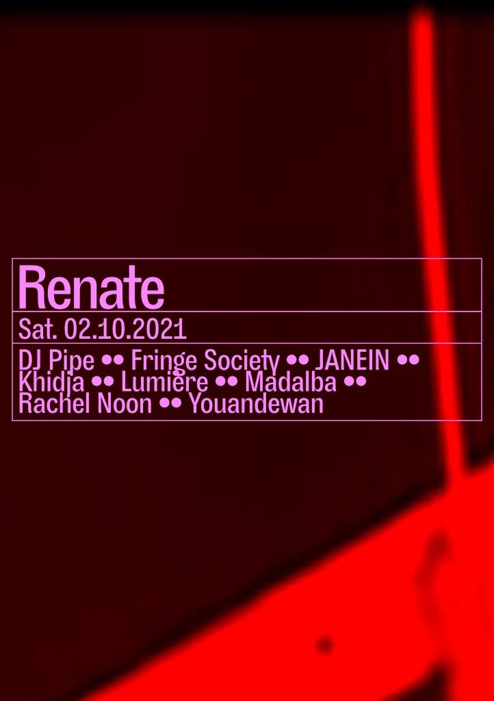 JANEIN, Khidja, Rachel Noon, Youandewan - Flyer front