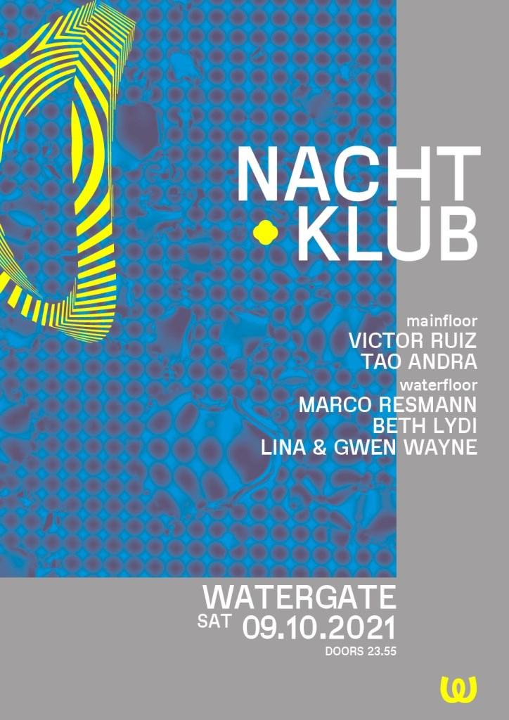 Nachtklub: Victor Ruiz, Marco Resmann, Beth Lydi, Lina & Gwen Wayne, Tao Andra - Flyer front