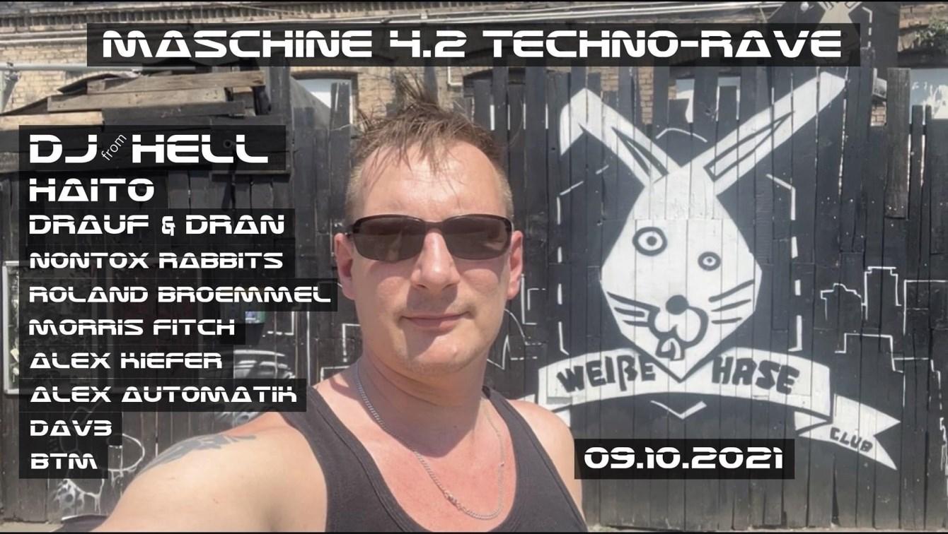 Maschine 4.2 Techno Rave - Flyer front