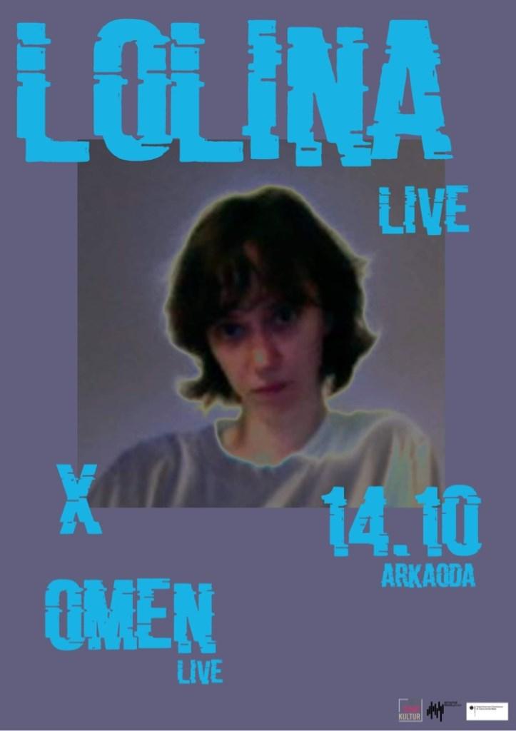 Lolina (Inga Copeland) Omen (Live) - Flyer front