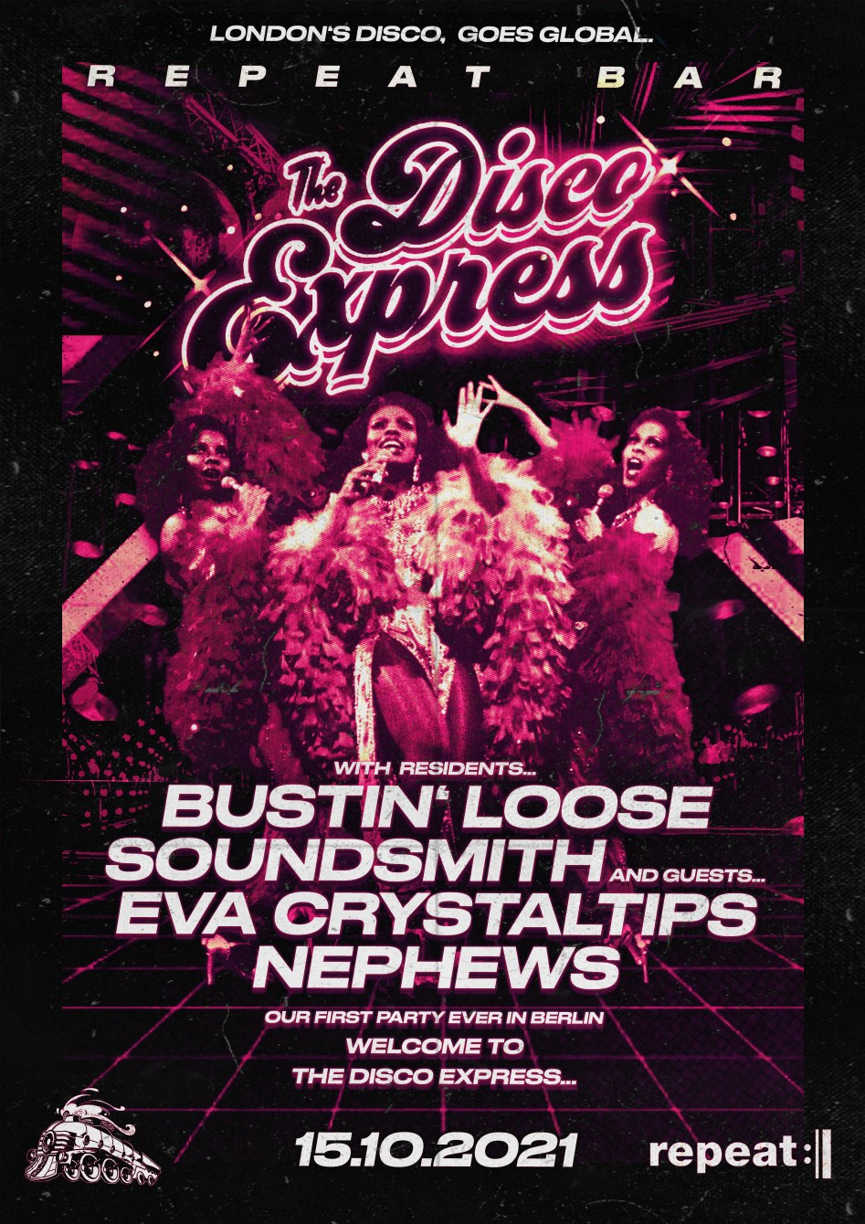 The Disco Express: Berlin - Flyer front