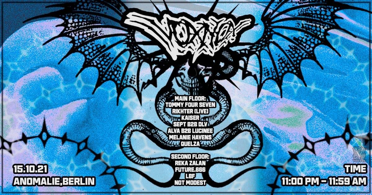 Voxnox with Tommy Four Seven, RIKHTER, Kaiser, Alva b2b Lucinee, Sept b2b DLV, Quelza - Flyer front
