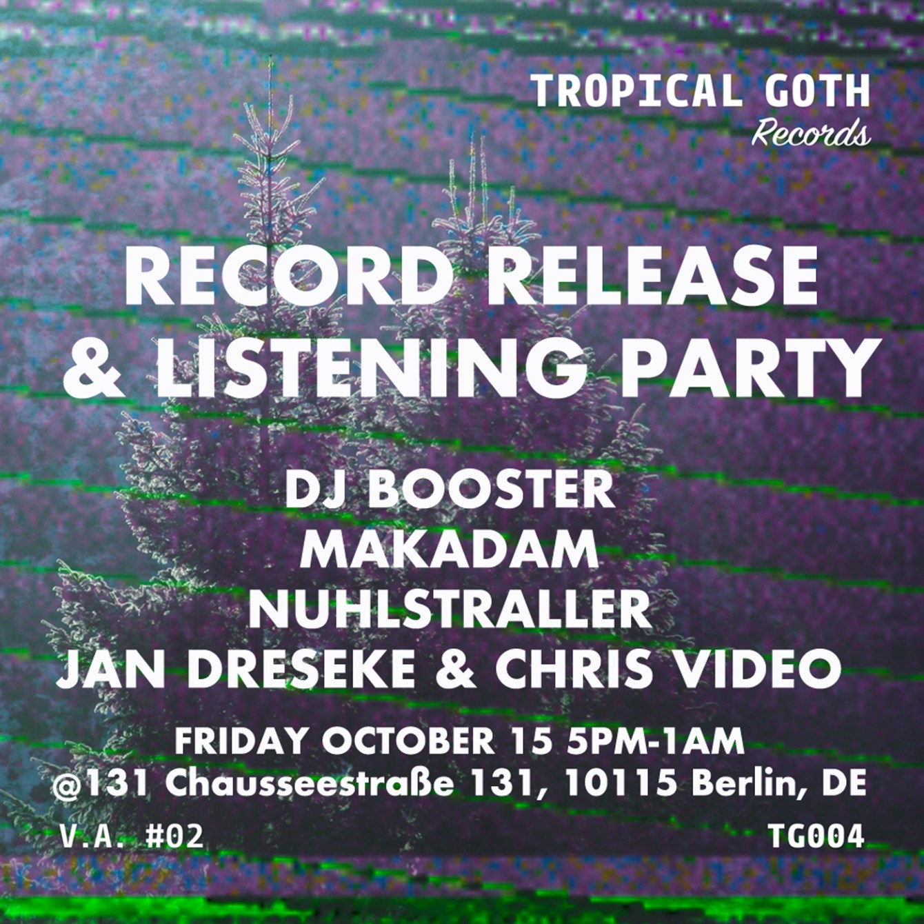 Tropical Goth Records Various Artists - Flyer front