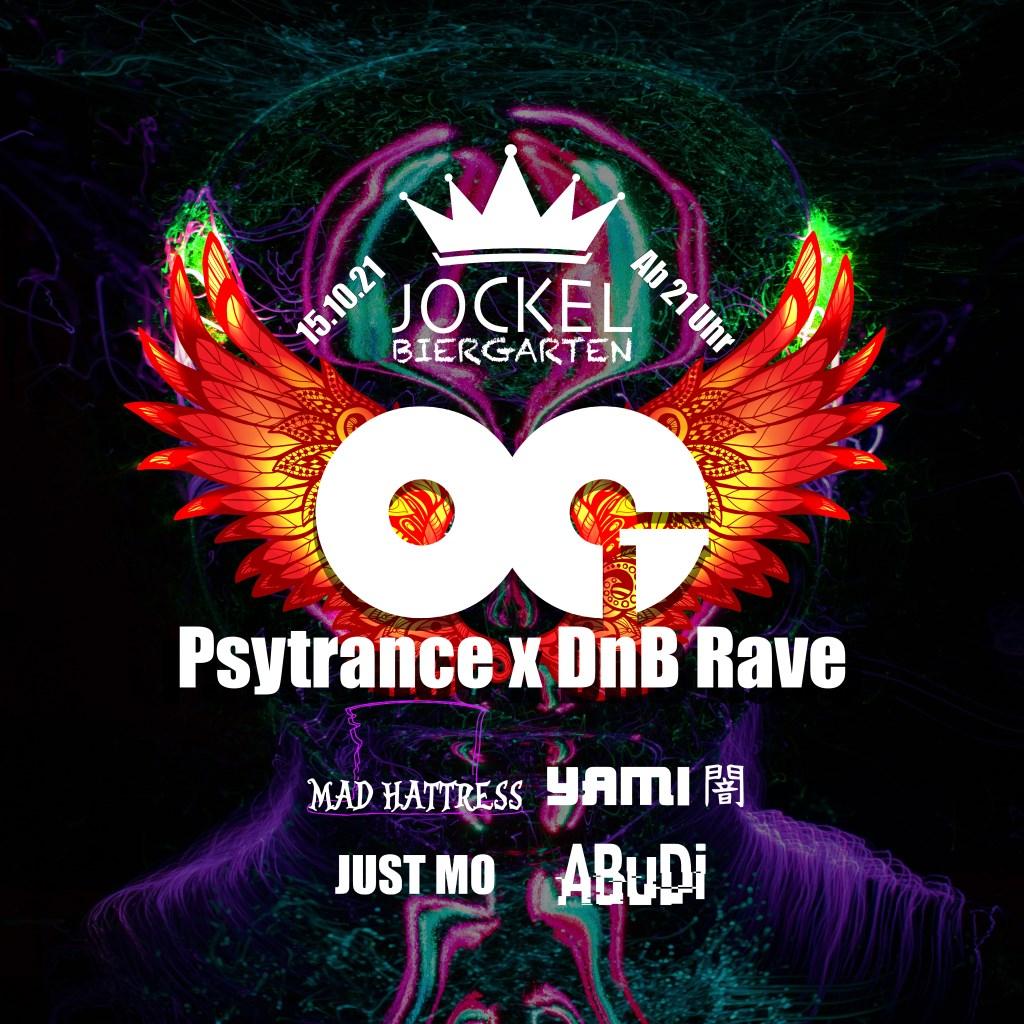 OG Psytrance x DnB Rave 04 (2G) - Flyer front