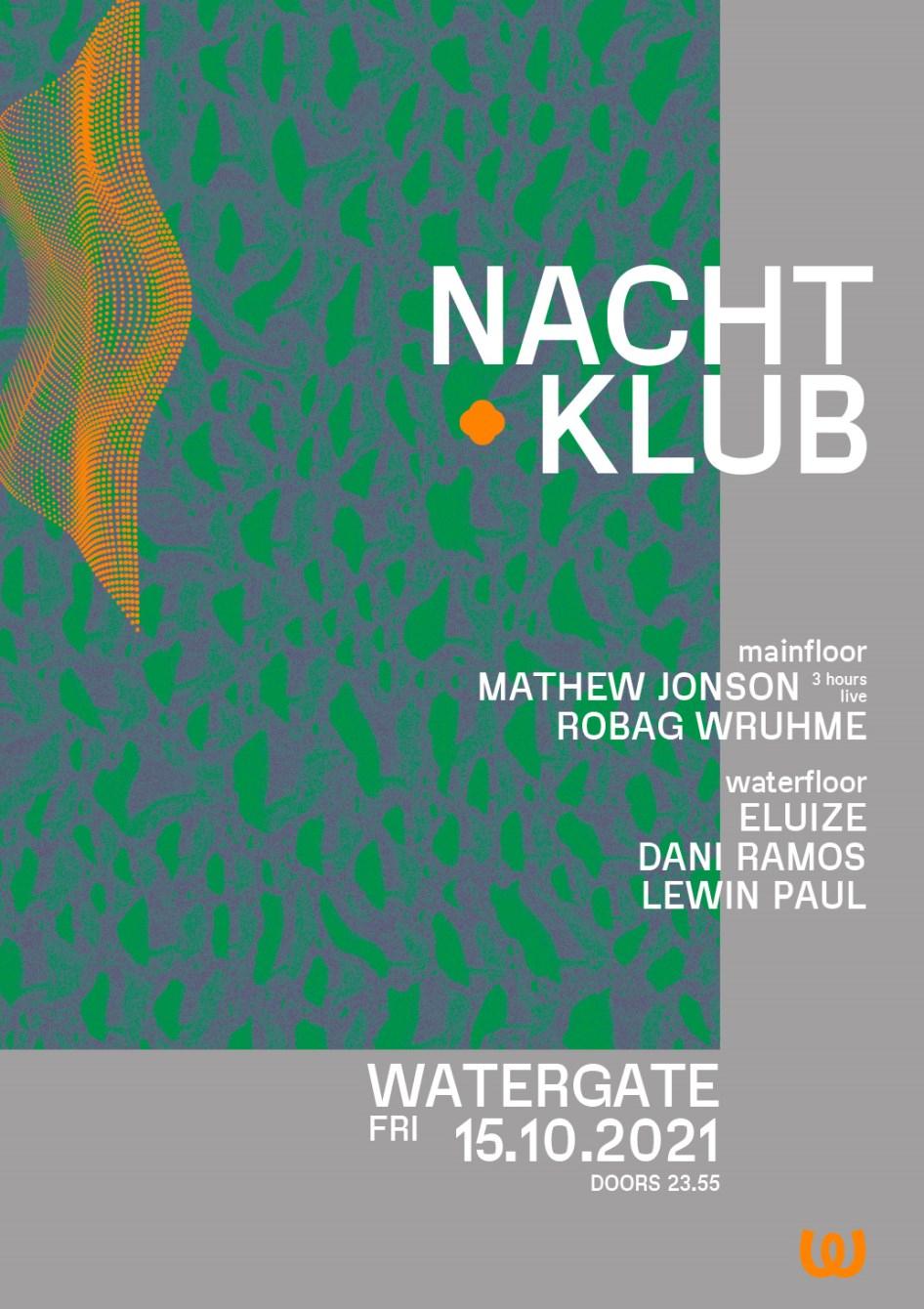 Nachtklub: Mathew Jonson, Robag Wruhme, Eluize, Dani Ramos, Lewin Paul - Flyer front