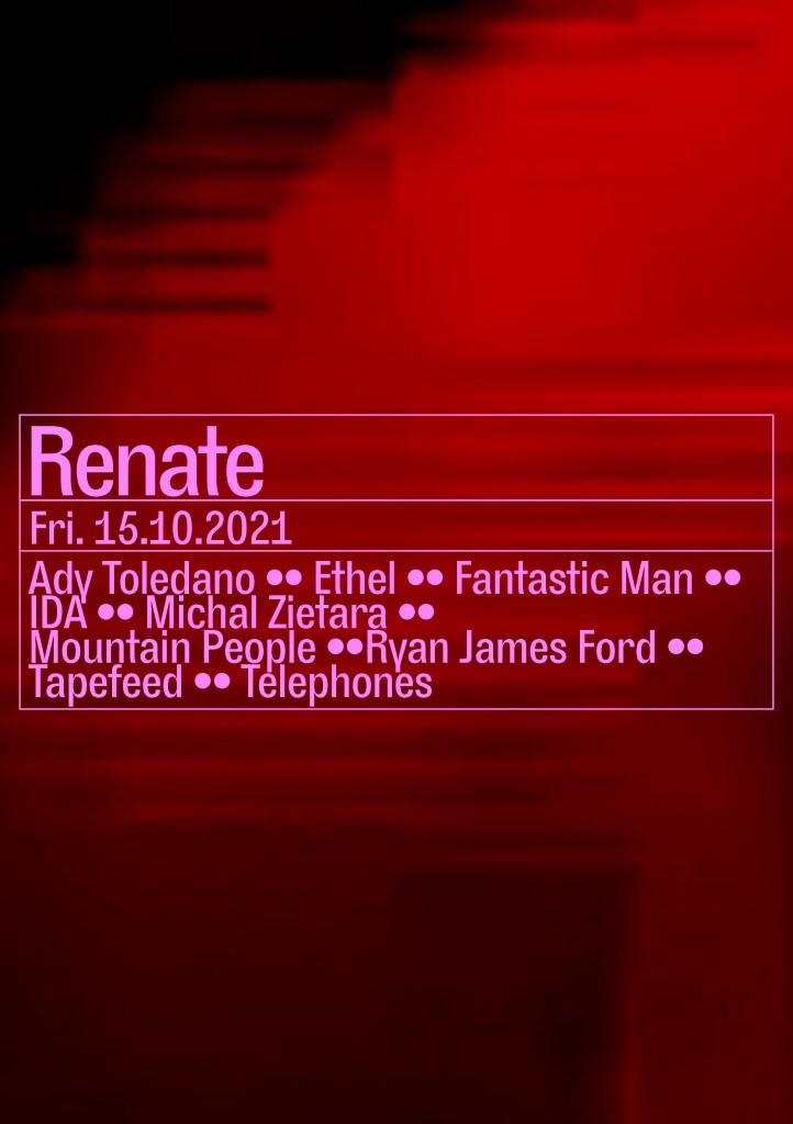 Ryan James Ford, IDA, Mountain People, Fantastic Man - Flyer front