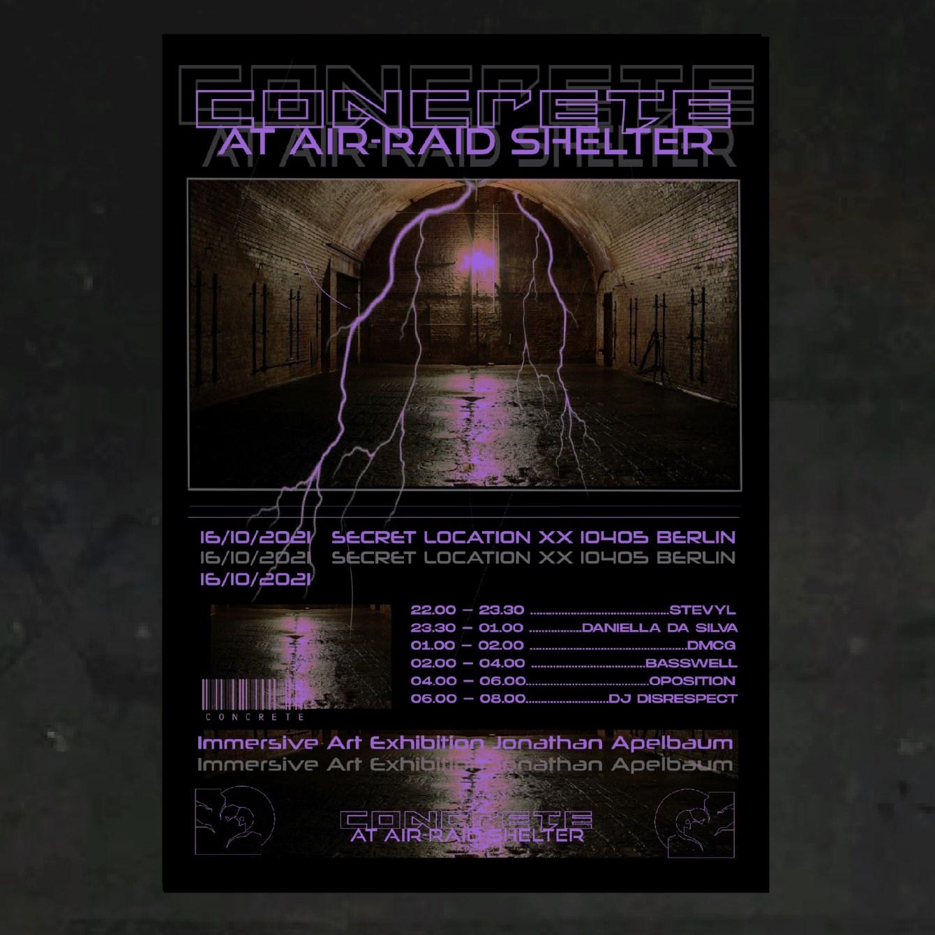 Concrete at Air-Raid Shelter - Flyer front