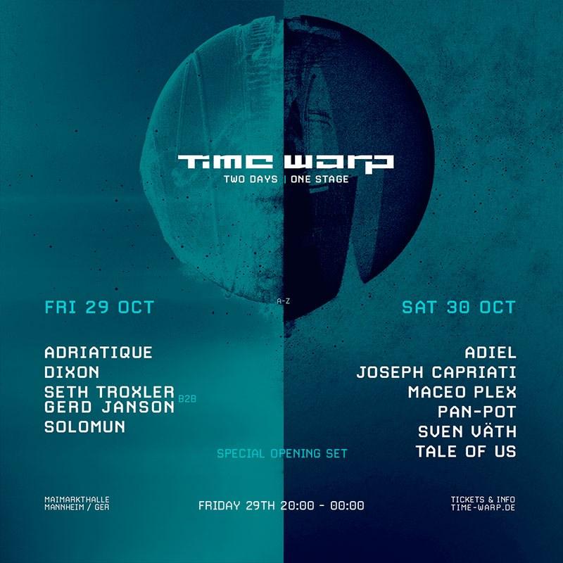 Time Warp Mannheim - Flyer front