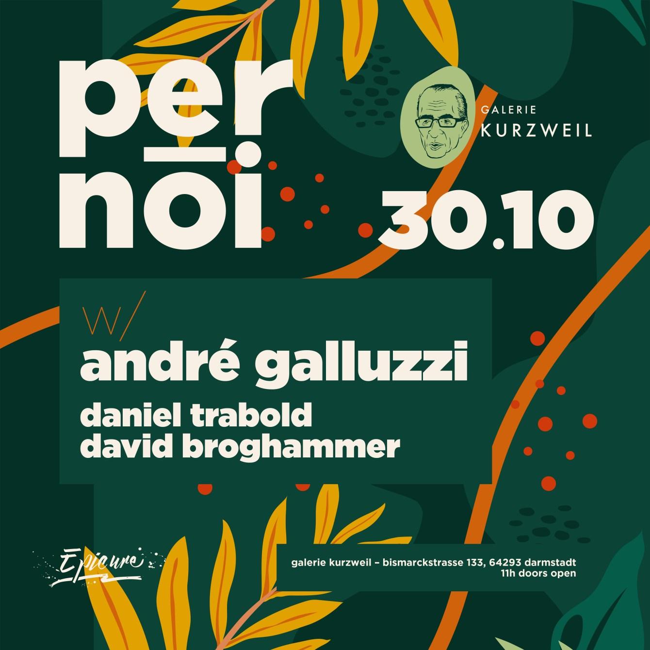 PER NOI: Andrè Galluzzi - Flyer front