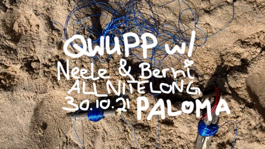 Qwupp with Berni - Flyer front