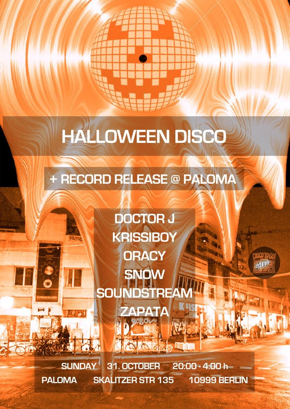 Halloween Disco - Flyer front