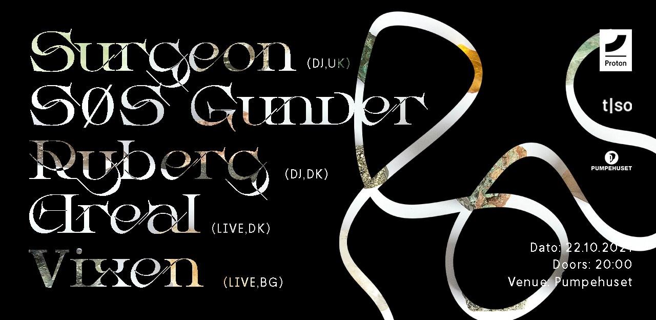 Surgeon (Live) SØS Gunver Ryberg (Live) Areal (Live) Vixen (DJ) - Flyer back
