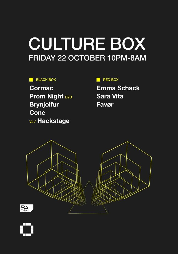 Cormac / Prom Night B2B Brynjolfur / Cone / Emma Schack / Sara Vita / Favør - Flyer front