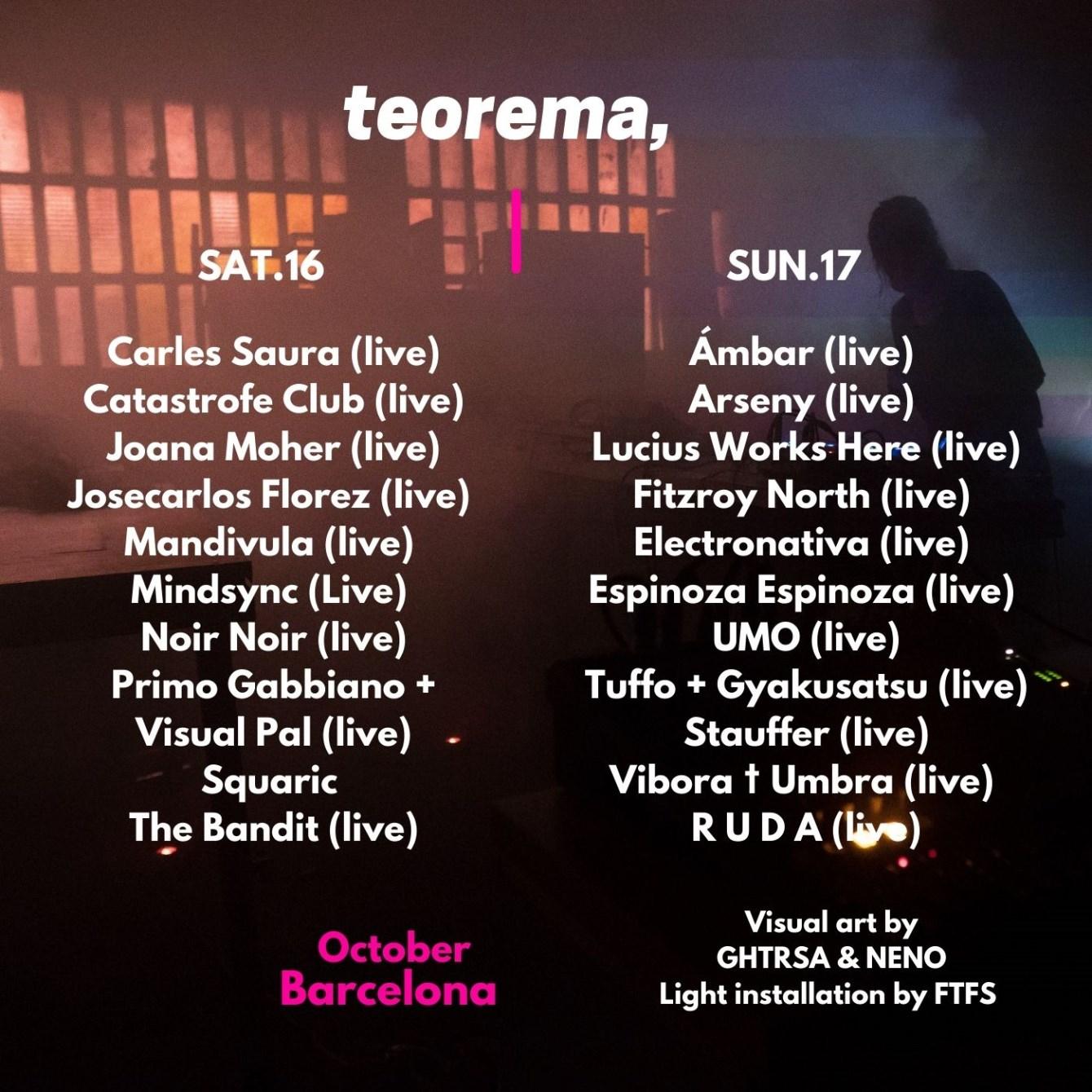TEOREMA • Barcelona 2021 - Flyer back