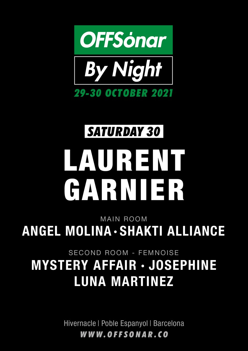 Offsónar by Night with Laurent Garnier, Angel Molina, Shakti Alliance and More - Flyer front