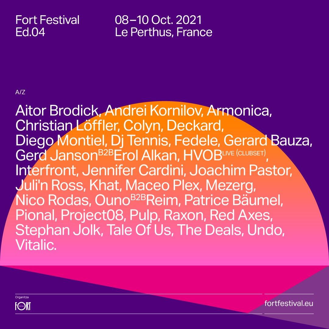 [RESCHEDULED] Fort Festival 2021 - Flyer front