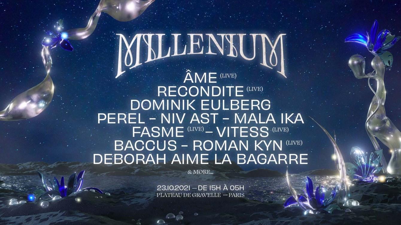 Millenium: Âme (Live), Recondite, Dominik Eulberg, Perel & More - Flyer back