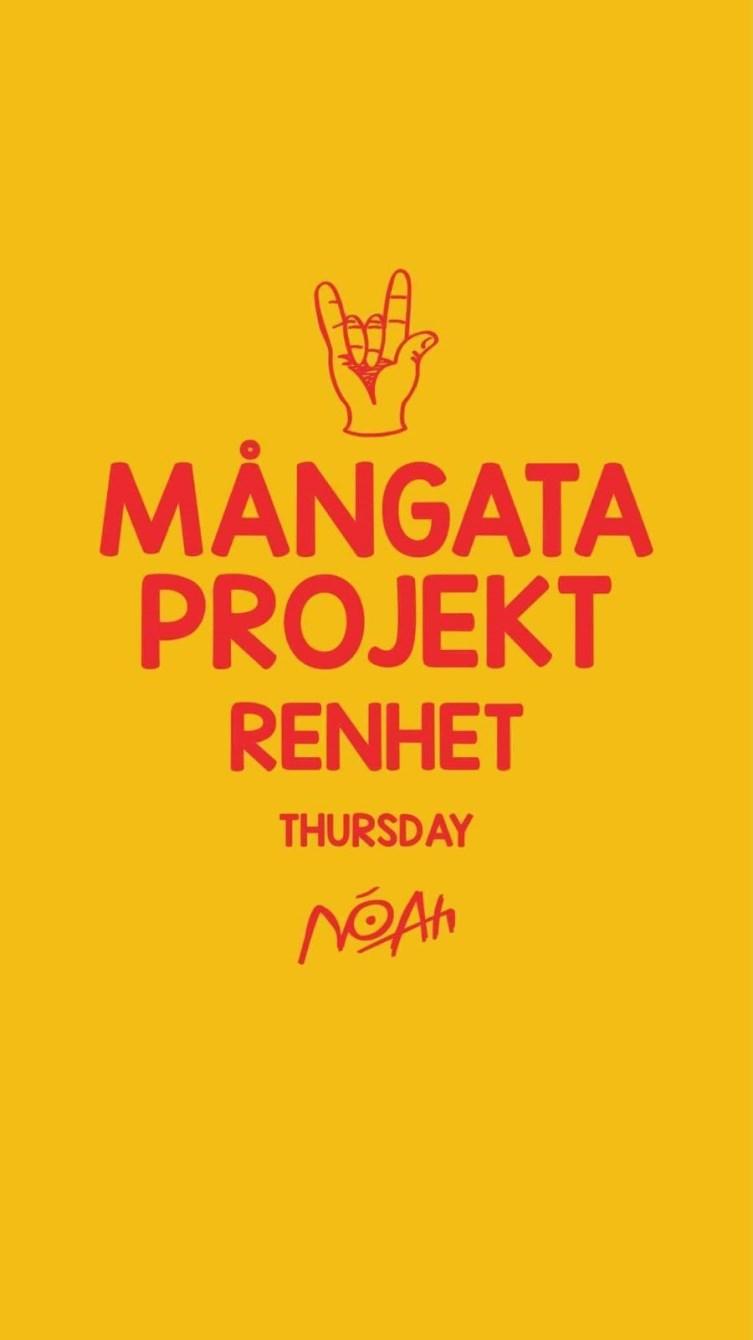MÅNGATA Projekt Thursdays - Flyer front