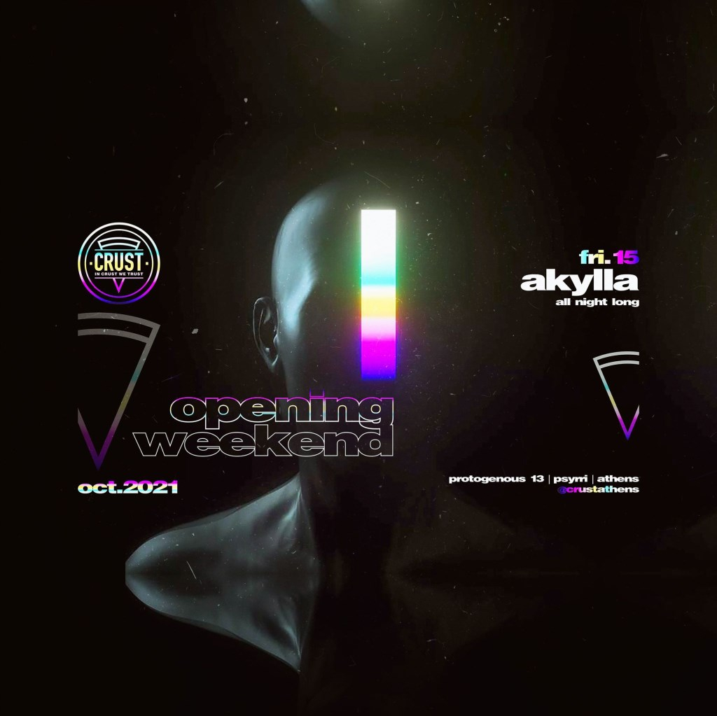 Opening Weekend Day 1 with Akylla - Flyer front