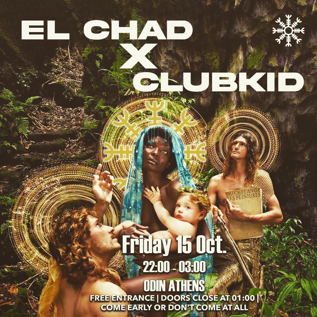 ClubKid x el Chad - Flyer front