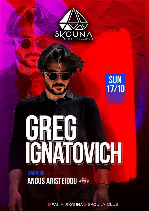 Greg Ignatovich - Flyer front