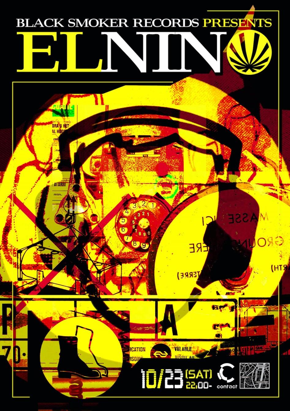 -Black Smoker Records presents- El Nino - Flyer front