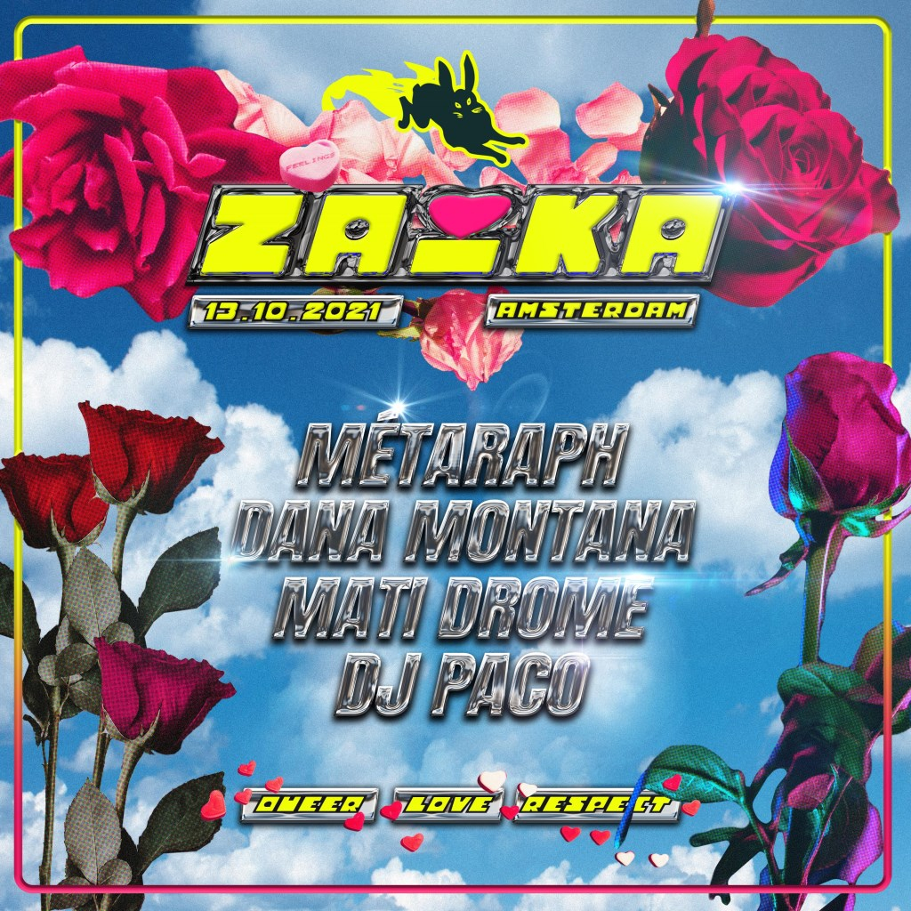 Zaika Goes to ADE - Flyer front