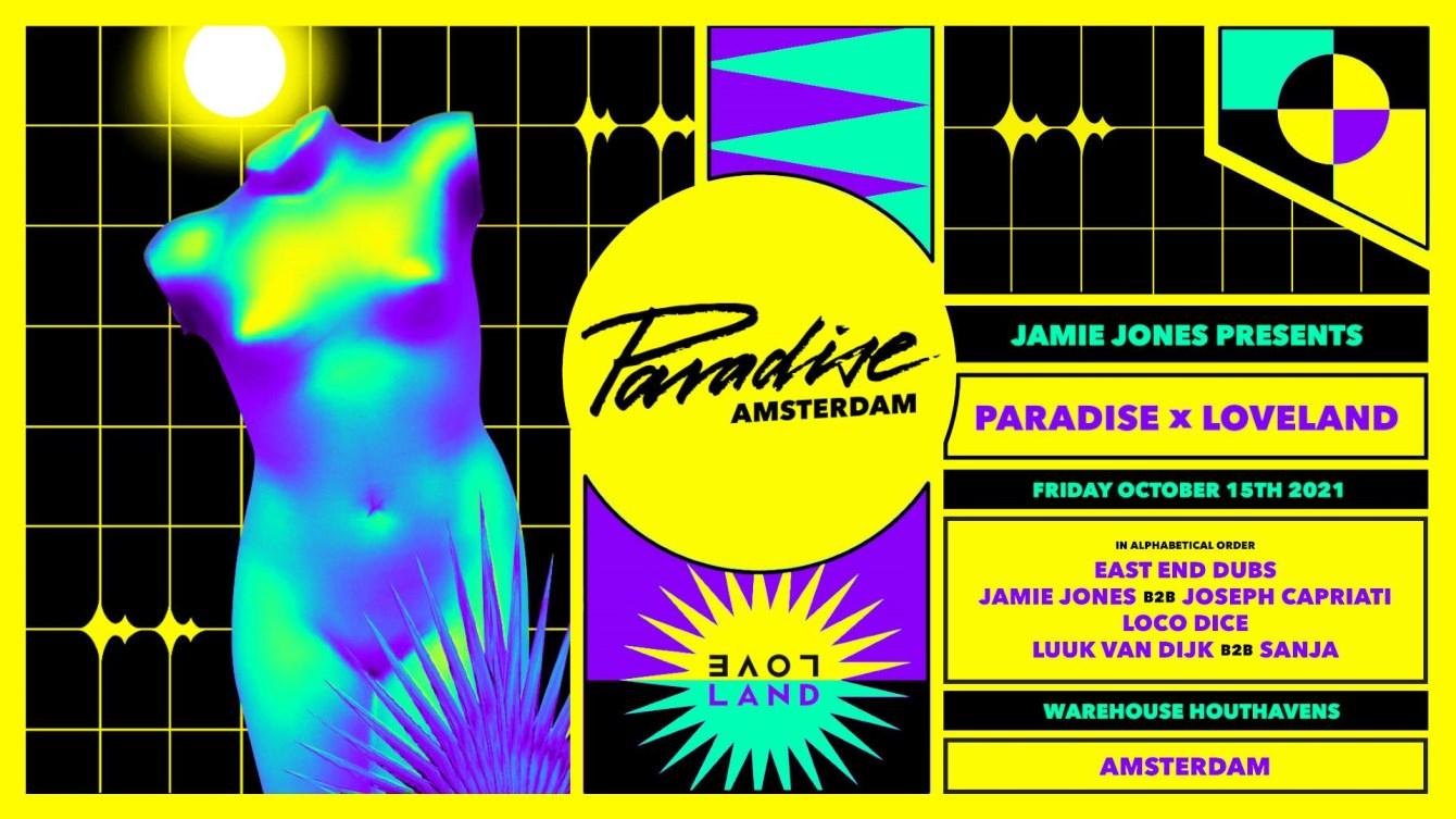 Paradise x Loveland - Flyer front