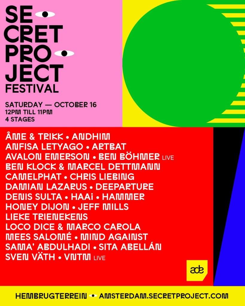 Secret Project Festival ADE - Flyer front