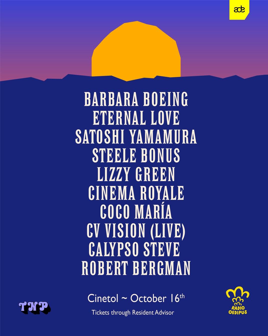 TNP ADE '21 - Barbara Boeing, Eternal Love, Satoshi Yamamura & More - Flyer front