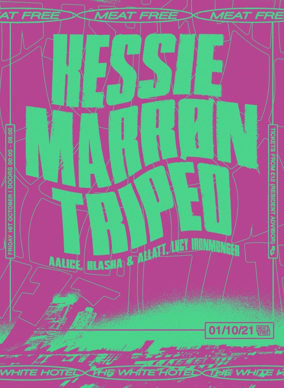 Meat Free with Kessie, Marrøn & Tripeo - Flyer front
