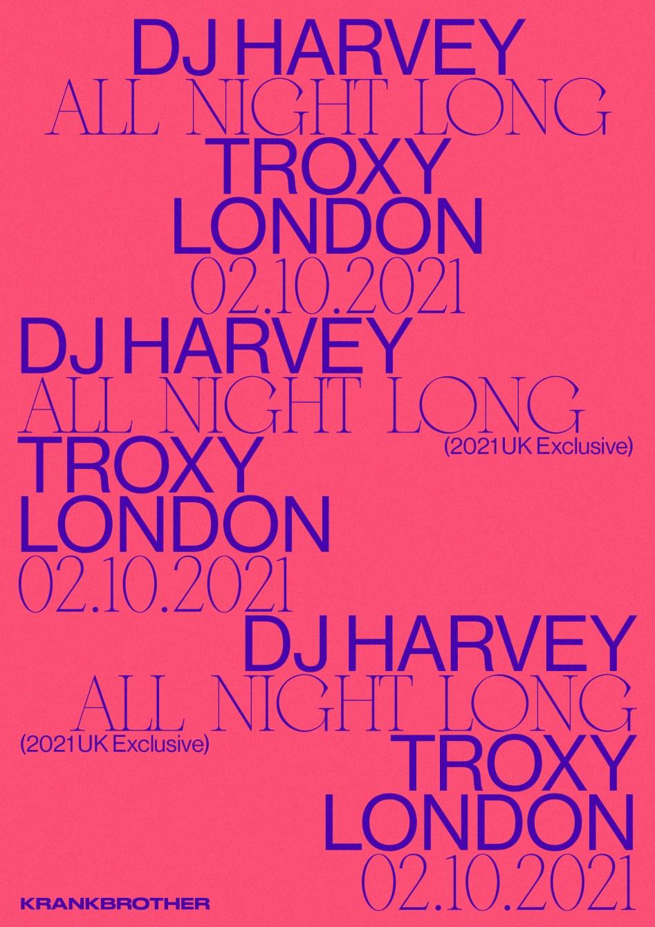krankbrother presents DJ Harvey All Night Long - Flyer front